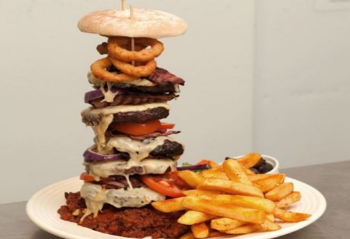 The Monster Red Ruby Burger