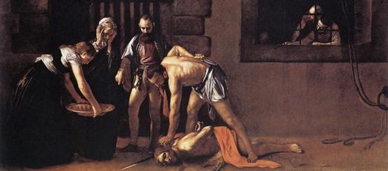 behaeading of John the Baptist by Cravaggio