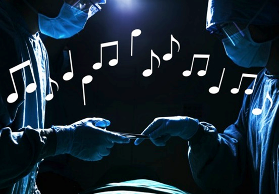 Music relaxes patients prior to and after a surgery