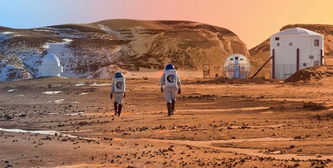 Mars Colony In Future