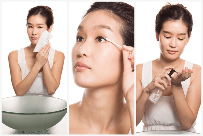 Clean your face twice