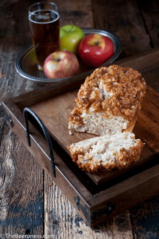 Caramel apple beer bread