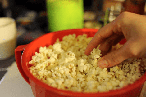 Low fat popcorn